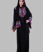 Latest Embroidered Hijabs 2014 For Women-5