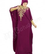 Latest Embroidered Hijabs 2014 For Women-7