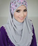 Latest Embroidered Hijabs 2014 For Women-9