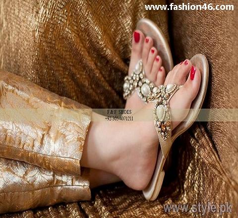 New Footwear Collection 2014 for Women by Farah Fatima Unze New Flat Sandals Collection 2013 for Ladies