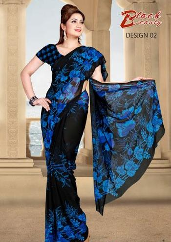 New Beautiful Party Wear Saree Collection for Summer-4