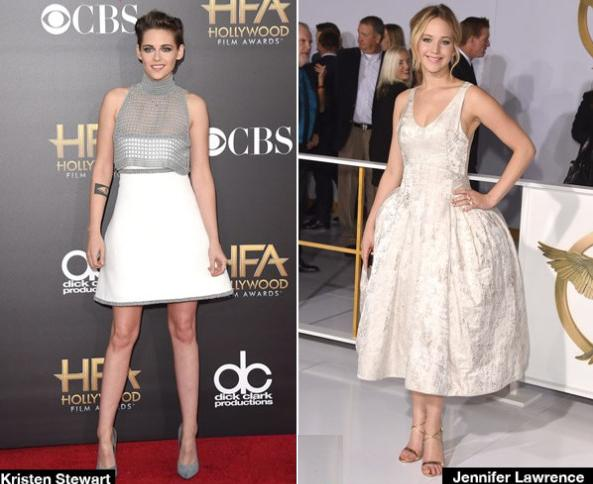 latest fashion news, latest fashion trends, latest celebrity news, latest celebrity fashion, Hollywood female celebrity news, Hollywood Film Awards, fall 2014 couture collection, Jennifer Lawrence, Kristin Stewart, Stylish Dressed, hot celebrity pics, Hollywood hot celebs, Kristin Stewart wallpapers, Jennifer Lawrence photos