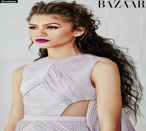 latest fashion news, latest fashion trends, latest lifestyle, women fashion, women hot looks, hairstyles, new hairstyles, harper's bazaar, Zendaya Rocks, Bold lip, Violet Lip, fashion world, Hollywood actress, Hollywood women fashion, modern beauty looks for women