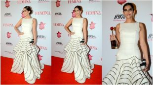 red carpet trends, bollywood celebrities, celebrity's gowns, surveen, gauri and nainika gown, gauahar khan, huma, deepika padukone, sonam kapoor